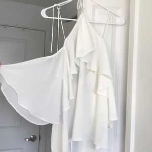 Size small white backless top